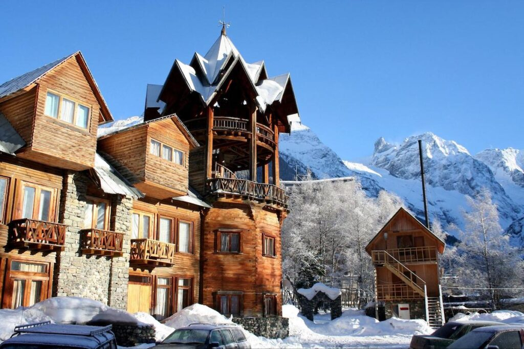 what is my timeshare worth: big cabin in the mountains during winter